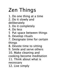Zen Things